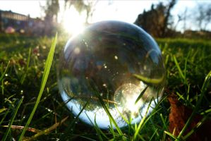 December sun in crystal ball by April-Mo