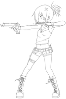 gunner lineart by NickBeja