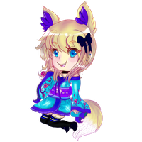 'What? This Cute Kitsune?' Rainblossom Chibi by Madam-Aiko