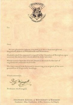 You have been accepted to Hogwarts - by MeganHenri