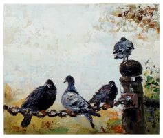 The Pigeons in Hyde Park by szklanytygrys