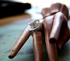 Teacup Ring with mini spoon by GraceCM