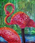 Flamingo Painting by elphaba-rose-wilde