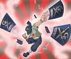 Ninja Geek Fight Promo Card by ActionMissiles