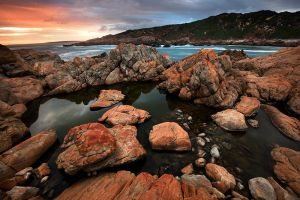 Tide Pool Sunset by Zefisheye