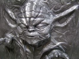 Yoda in Carbonite Painted 2 by FUVL
