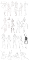 Sprite Sketch Dump AHOY (DOWNLOAD) by Katkat-Tan