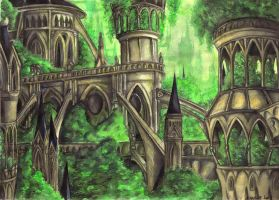 City of Elves by Mechinus