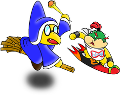 Asked Request: Kamek and Bowser Jr. by Assassin--Knight