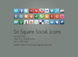 So Square Social Icons Set by SuperKrolik