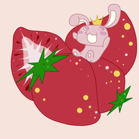 Strawberry Bunny King by AliceScythe
