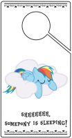 Rainbow Dash Door Hanger by pinoymb3