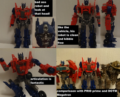 Evaision Mode Optimus Robot mode by lovefistfury
