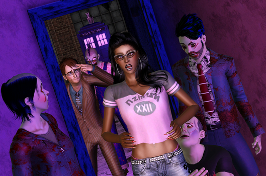 Zombie Surprise by Simdaddy