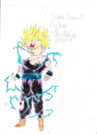 Super Sayain 2 Gohan (with color) by chrispwnz95
