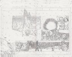 Stars 2 Page 10 and 11 Pencils by KurtBelcher1