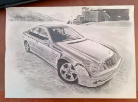 Chromed Mercedes-benz E-Class Finished by daharid
