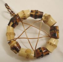 Bamboo and Wire Pentacle 1 by Windthin