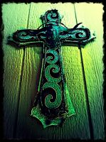 Turquoise cross by heatherdrefke