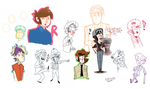 Beatle and OC sketchdoodles n' Stuff by KabouterPollewop