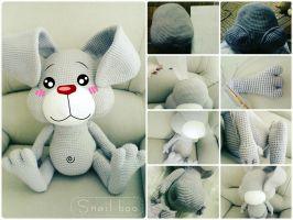 giant crochet bunny by abaoabao