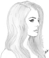 Lana Del Rey Sketch by PrincessHigh