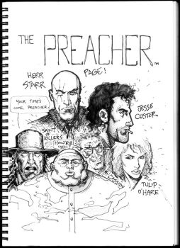 Preacher sketches by FlowComa