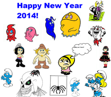 Happy New year 2014! by Smurfette123