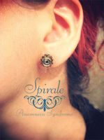 Spiral Steampunk earring by Verope