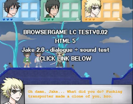 Browsergame Lost Chums Test v0.02 - Dialogue Voice by ChibiEdo