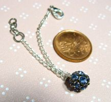 Blue gem-ball doll necklace by sweetmeika