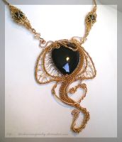 Snake Pendant by blackcurrantjewelry