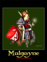 Malgayne - Blizzcon Badge by noxychan