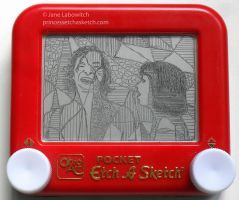 Somebody that I used to etch (a sketch) by pikajane
