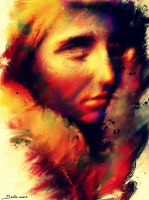 A WOMAN'S FACE FROM MY HOMELAND by Delawer-Omar