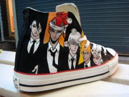 BLEACH , custom shoes by Annatarhouse