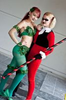 Poison Ivy and Harley Quinn 1 by Insane-Pencil
