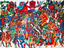Huge color superhero poster by dalgoda7
