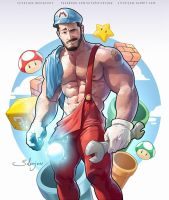Ice Mario by silverjow