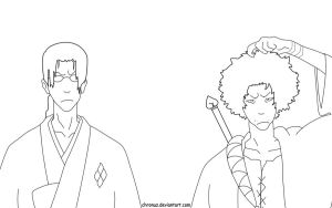 Samurai Champloo Lineart by Chronuz