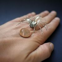 Mechanical Spider No 30 (hand for scale) by AMechanicalMind