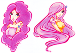 Pinkie Pie and Fluttershy Tattoo Design by LimboTheLost