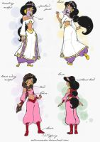 Sketch Book:Princess Jasmine by selinmarsou