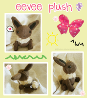 Eevee Plush by KelliBean