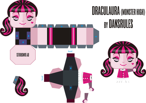 Monster High: Draculaura PaperToy by dansrules