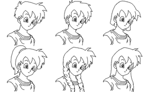 DBZ: Hair Practice by Tails212