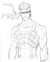 Solid Snake_sketch by aaronminier