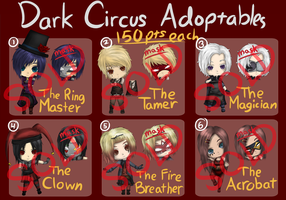 Dark Circus Adoptables [CLOSED] by MintyChipStuck