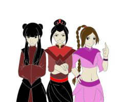 Azula, mai and ty lee by kndon12