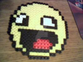 Derpy Awesome Face Perler by MeeganUrufu
